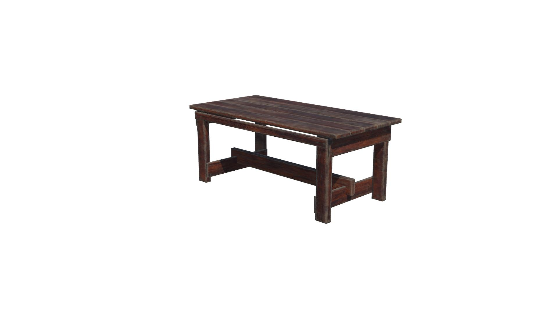 Wooden old table